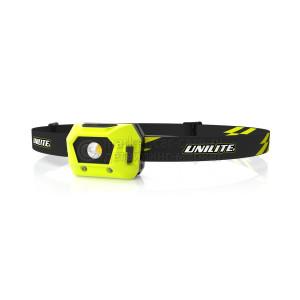 Легкий налобный фонарь UNILITE 125 Lm, 520 mAh, IPX5