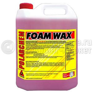 FOAM WAX POLARСHEM — полимерный шампунь с гидрофобным эффектом (4л.)