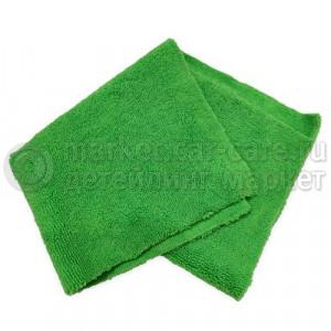 "Микрофибра ""Бакс"" без краев, 30*30см, зеленая, 280гр/м2, 50 штук"