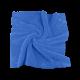 """Двусторонняя микрофибра """"Мягкая лапка"""" без оверлока, 40*40см, синяя, 400гр/м2, 50штук"""