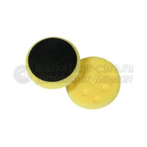 Полировальный диск LakeCountry поролон агрессивный, режущий, желтый, 140мм