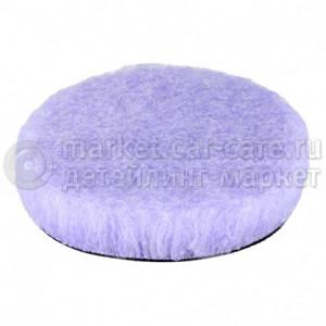 Полировальный диск LakeCountry меховой режущий длинный ворс, фиолетовый, 150мм