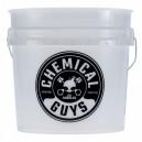 Chemical Guys Фирменное пластиковое ведро 18л. бело-черное