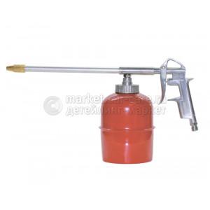 Пистолет моечный/мовильный с алюминиевой ручкой, бачок стальной 0,9л, Jeta Pro