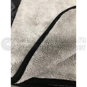 "Микрофибровое полотенце для сушки авто ""Волчара 2.0"", 50*60 см, светло серое, 900 гр/м2, 10шт"