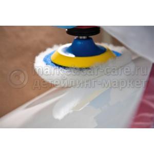 Меховой полировальник BRAYT из 100% натуральной шерсти ягненка белый 150мм