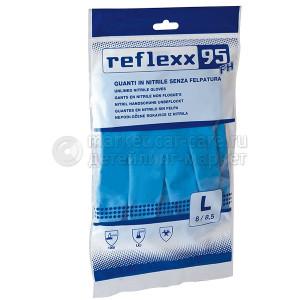 Reflexx Многоразовые защитные перчатки, нитриловые 33 см. Reflexx R95-L. 44 гр. Толщина 0,22 мм.