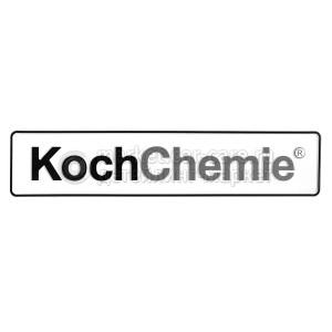"Koch Chemie Автомобильный номер ""Koch Chemie"" на белом фоне"