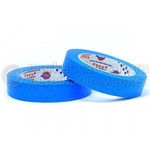 Маскирующая лента (малярный скотч) Eurocel 80°С-30 мин синяя, 30 мм