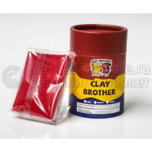 Глина полировальная полуабразивная BUFF BROTHERS CLAY MAROON 100g