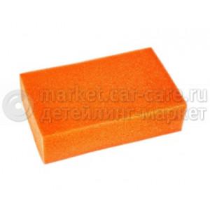 Губка автомобильная 200*120*50мм стандарт (оранжевая)