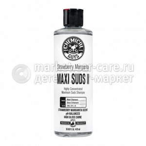 Chemical Guys Ручной шампунь, Strawberry Margarita Maxi-Suds II Car Wash Shampoo 473мл