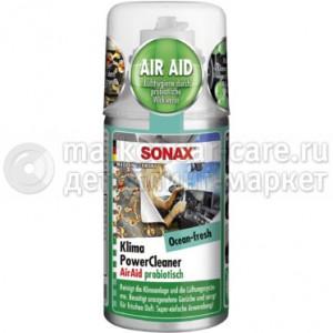 SONAX Очиститель системы кондиционирования пробиотиком Океанская Свежесть 0,15л