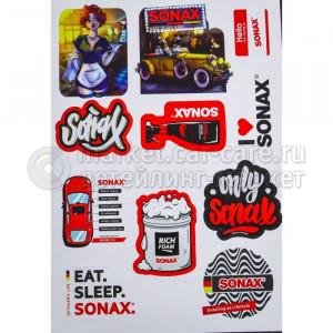 SONAX Стикеры на клейкой основе А4 лист SX STICKER1