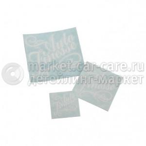 Autofinesse Auto Finesse Наклейка, вырезанная, цв. белый, 8х8,5 см
