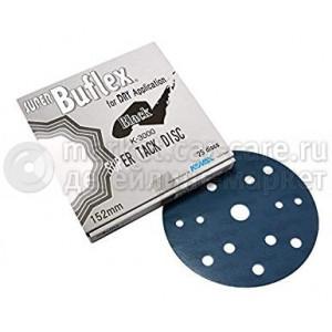 K3000 152мм KOVAX Super Buflex Dry Black Круг шлифовальный на липучке, 15 отверстий 1931564