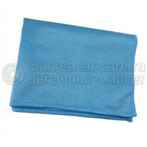 Голубая микрофибра для стекол Dry Monster glass 35х35