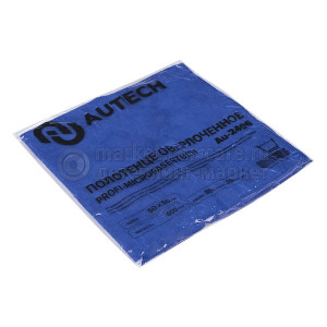 AuTech PROFI-MICROFASERTUCH Полотенце оверлоченное 50*50 см, СИНЕЕ, 400гр/м2 для сушки авто