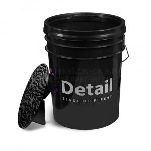 Ведро Detail с пескоотделителем, черное