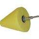 Конусная насадка LakeCountry для полировки средней жесткости желтая, d102mm