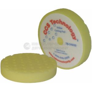 Полировальный круг LakeCountry желтый жесткий CCS-технология, 165мм