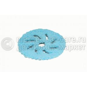 Микрофибровый грубый полировальный диск RUPES голубой 80/100мм