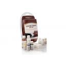Набор LeTech для подкраски мелких повреждений на коже Leather Touch Up Kit Medium Brown (коричневый)