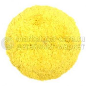Меховой полировальный круг LakeCountry желтый, 165мм