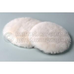 Меховой полировальник Brayt из 100% натуральной шерсти ягненка белый 80мм