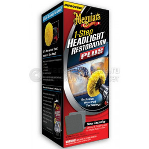 Набор для восстановления фар Meguiar's Headlight Restoration Kit, 170мл
