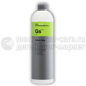 Универсальное щелочное средство для бережной первичной мойки поверхностей Koch Chemie Green Star, 1л.
