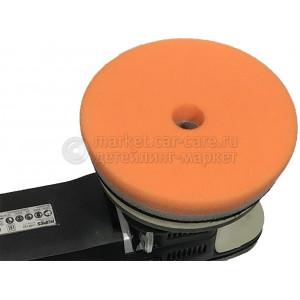 Оранжевый полирующий полировальный круг Lake Country, d130/140мм