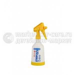 Накачной - курковый помповый пульверизатор Kwazar Mercury SUPER 360 PRO+ V0,5 Viton Yellow (желтый)