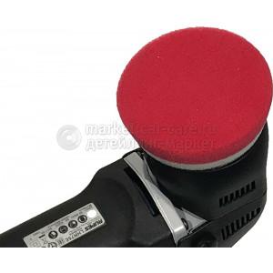 Красный финишный полировальный круг Lake Country, d75/90мм