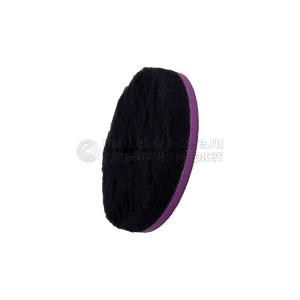"""155/25/155 - ЧЕРНЫЙ шерстяной круг Zvizzer (ворс 15 мм) / """"Doodle"""" Wool-Pad, black 15mm"""