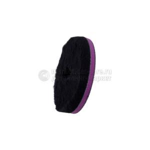 """135/25/135 - ЧЕРНЫЙ шерстяной круг Zvizzer (ворс 15 мм) / """"Doodle"""" Wool-Pad, black 15mm"""