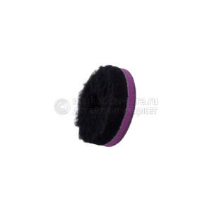 """80/25/80 - ЧЕРНЫЙ шерстяной круг Zvizzer (ворс 15 мм) / """"Doodle"""" Wool-Pad, black 15mm"""