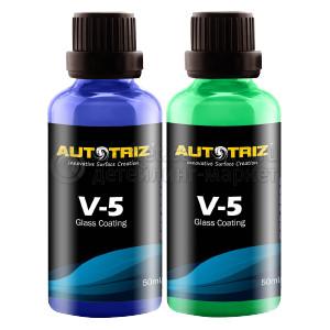 Защитное гидрофобное покрытие для автостёкол AutoTriz V-5 Glass Coating, 50+50ml