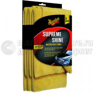 Салфетка микрофибровая Meguiar's Supreme Shine Microfiber Towel X2020EU, 40x60см 3 шт.