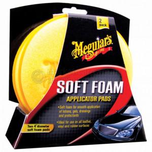 Аппликатор мягкий поролоновый Meguiar's Soft Foam Applicator Pads, 10 см 2 штуки