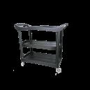 Пластиковый стол на колесиках. Место полировщика