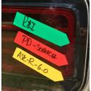 Маркировочная наклейка (стрелка) The MarkSafe Estimating Arrows Collision Edge цвет: красный - 150 стрелок в рулоне