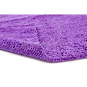 Полотенце микрофибровое двухстороннее 40x40 с УЗ обрезкой, 400 гм2 (фиолетовое)