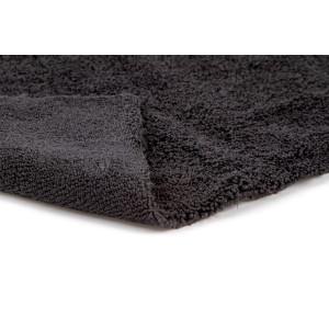 Полотенце микрофибровое двухстороннее 40x40 с УЗ обрезкой, 400 гм2 (черное)