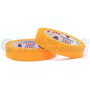 Маскирующая лента (малярный скотч) Eurocel 80°С-30 мин оранжевая, 25 мм
