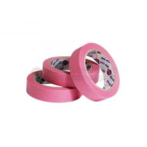 Маскирующая лента (малярный скотч) Eurocel 80°С-30 мин розовая, 25 мм