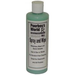 Очиститель Poorboy's World Spray and Wipe - Waterless Wash/Clay Lubricant (16oz/473ml)