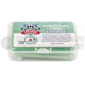 Среднеабразивная полировальная глина зеленая LERATON CL2, 100гр