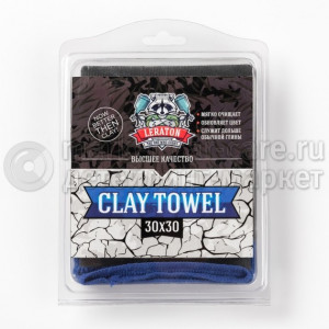 Полотенце-автоскраб LERATON CLAY TOWEL CL5, 30x30см