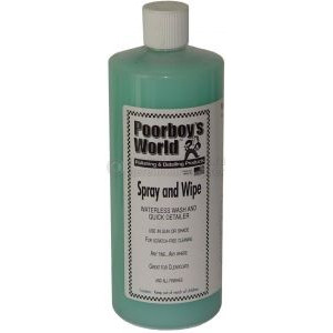 Очиститель Poorboy's World Spray and Wipe - Waterless Wash/Clay Lubricant (32oz/964ml)